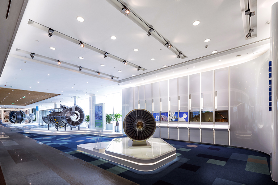 Site02 ge shanghai office lobby for House interior electrical design
